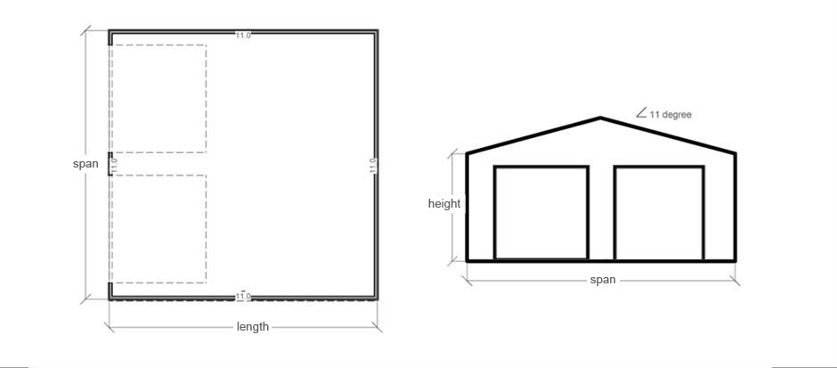 Stud frame garage pacific building company for Garage construction plans